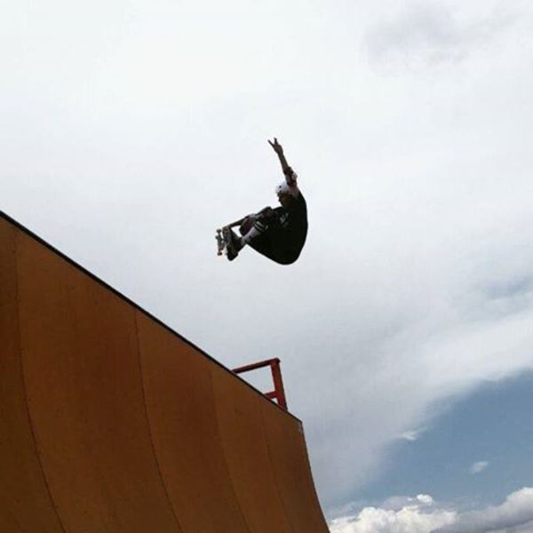 Nice frontside air on the vert ramp today