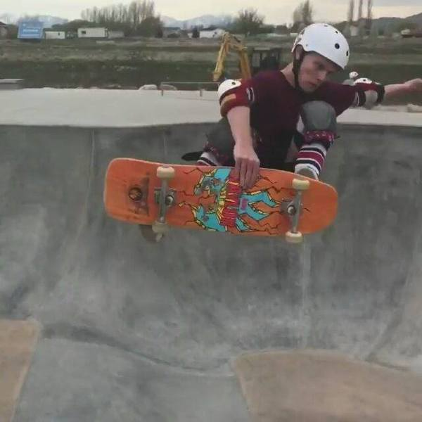 First day in the new bowl at lehiskatepark
