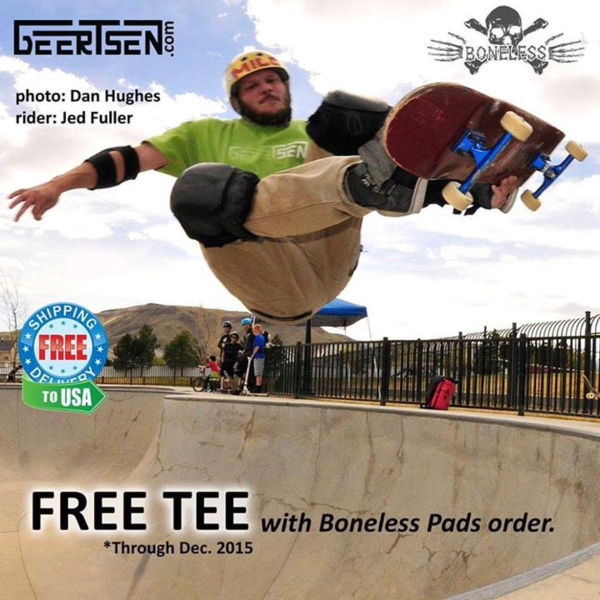 Free Tee with purchase of Boneless Knee Pads