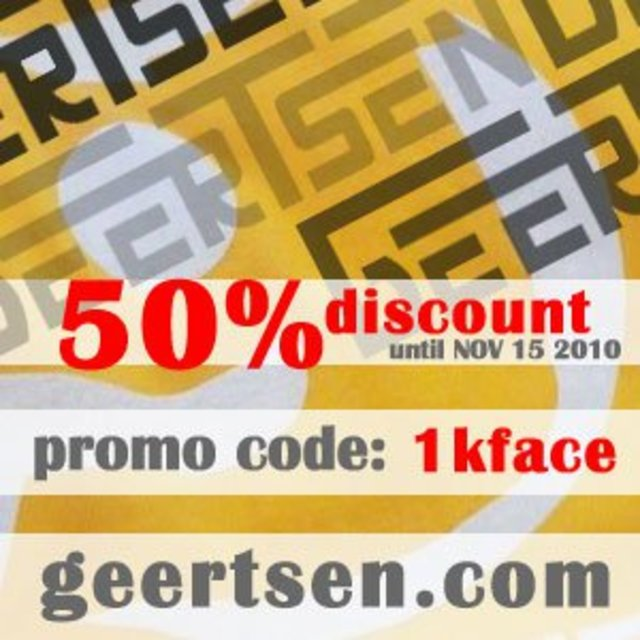 As promised 50% discount on GEERTSEN CLOTHING Thanks