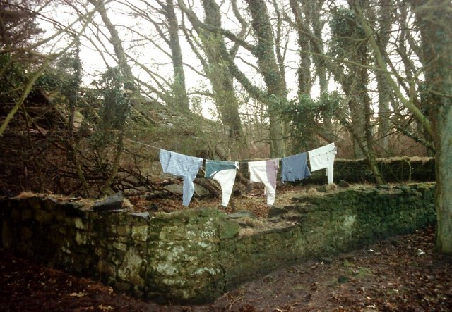 Clothes line in the northeast of England