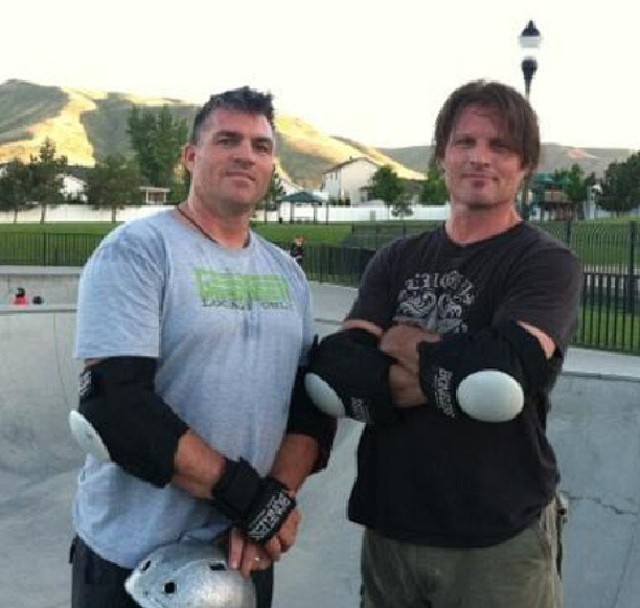Geoff and Dave Geertsen at the Herriman skate